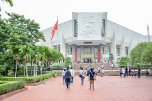 Ho Chi Minh Museum in Hanoi Vietnam.