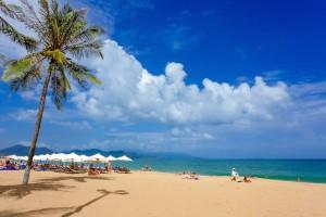 NHA TRANG,VIETNAM - NOV 14: Holiday Beach, Nov 14, 2014 in Nha Trang, Vietnam. Nha Trang is a famous