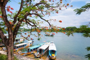 Scenic Boat cruises along the Perfume River can take you to the Royal Tombs and other sights.