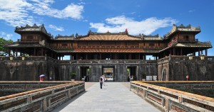 Entrance to Hue citadel and Forbidden City in Hue, Vietnam.