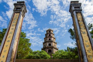 Octagonal towers of Thien Mu Pagoda, built in 1601.