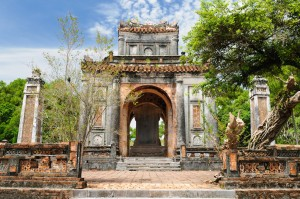 Tu Duc Tomb is one of 7 royal tombs of the Nguyen Emperors you can see just outside of Hue, Vietnam.