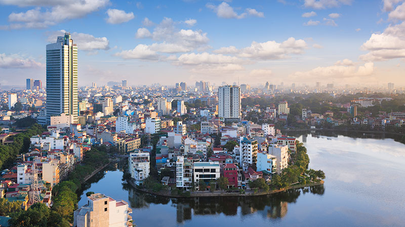 Hanoi City Birdseye View